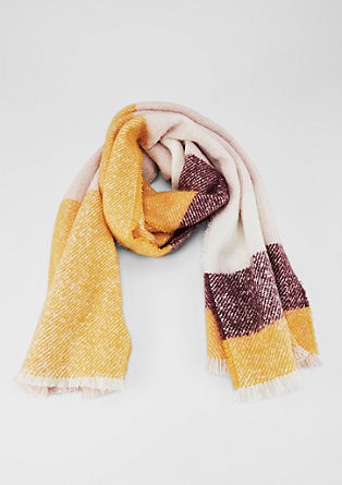 Bouclé scarf with fringing from s.Oliver