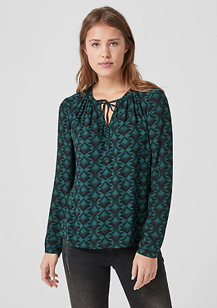 Blouse with a retro print from s.Oliver