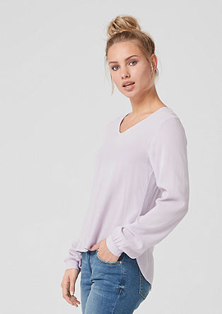 Viscose crêpe blouse top from s.Oliver