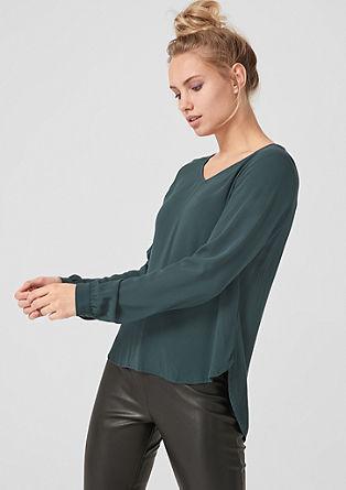 Blusenshirt aus Viskose-Crêpe
