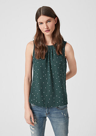 Blouse top with a polka dot pattern from s.Oliver