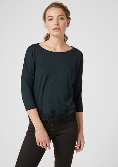 Oversized top with lace from s.Oliver