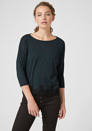 Oversized shirt met kant