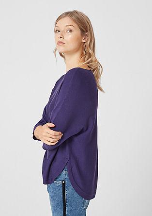 Enobarven pulover iz fine pletenine