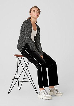 Gwen Straight: Hose aus Samt