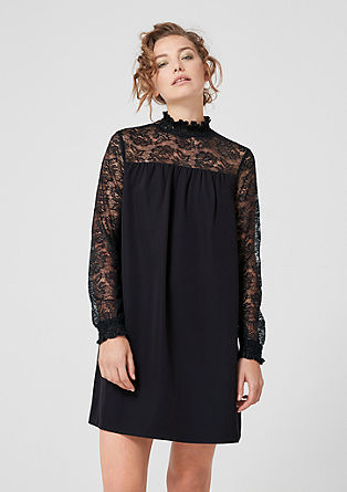 Mini dress with lace from s.Oliver