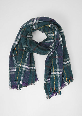 Check bouclé scarf from s.Oliver