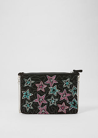 Embroidered velvet clutch bag from s.Oliver