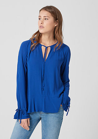 Viscose blouse with flounce details from s.Oliver