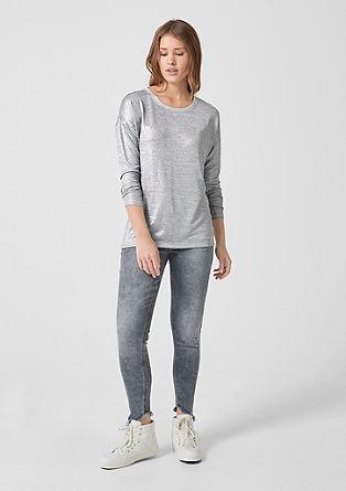 Long sleeve top with a metallic finish from s.Oliver