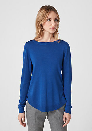 Leichter Pullover mit rundem Saum