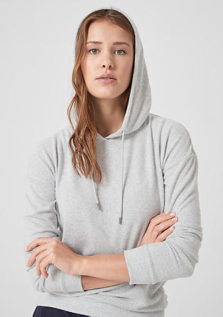 Soft knit jumper with a hood from s.Oliver