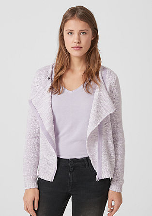 Cardigan with a diagonal zip from s.Oliver