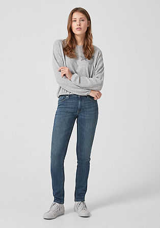 Catie Slim: Used Denim