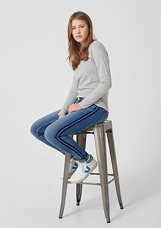 Sadie Superskinny: jeans with tape from s.Oliver
