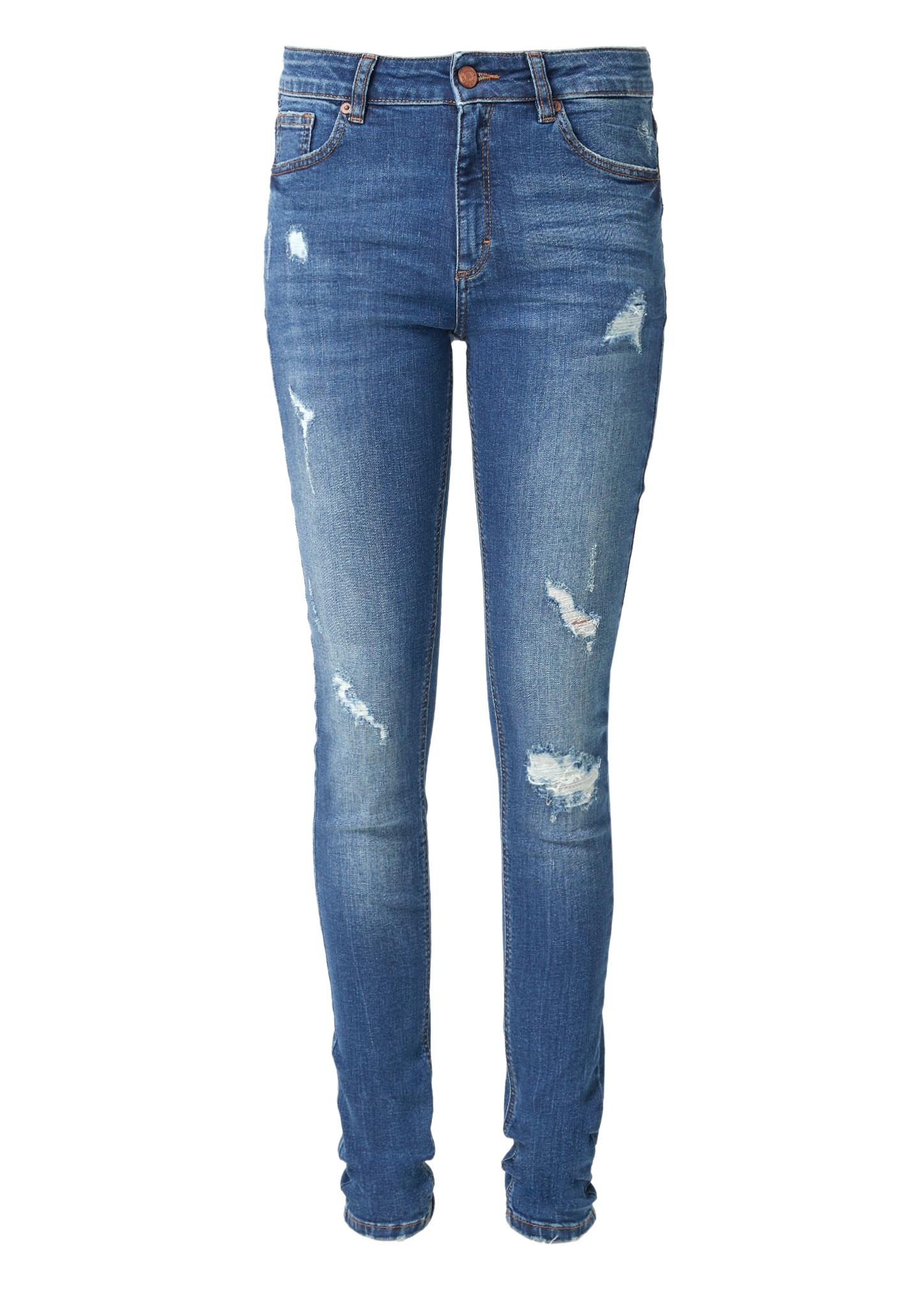 High Waist-Jeans | Bekleidung > Jeans > High Waist Jeans | Blau | 86% baumwolle -  12% polyester -  2% elasthan| enthält nichttextile teile tierischen ursprungs | Q/S designed by