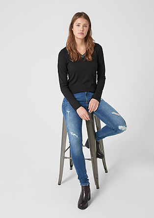 Reena Slim: High Waist-Jeans