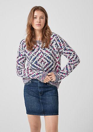 Strečová džínová minisukně