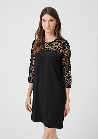 Short dress with lace from s.Oliver