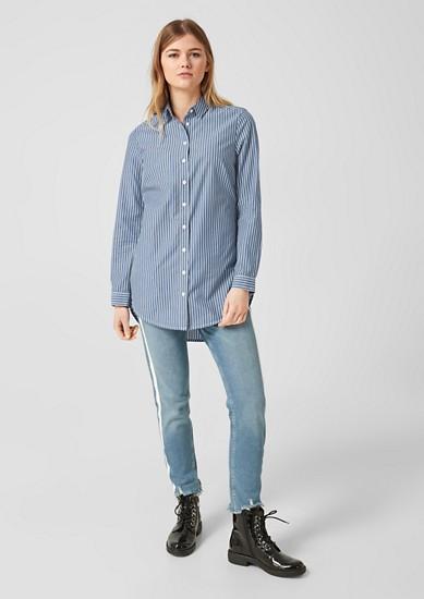 Gestreifte Long-Bluse