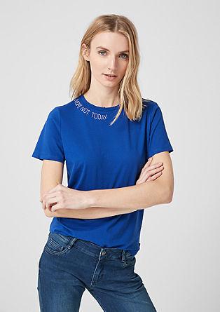 T-Shirt mit Statement-Embroidery