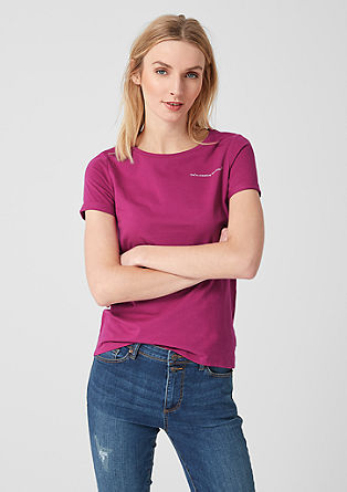 Cotton top with a statement from s.Oliver