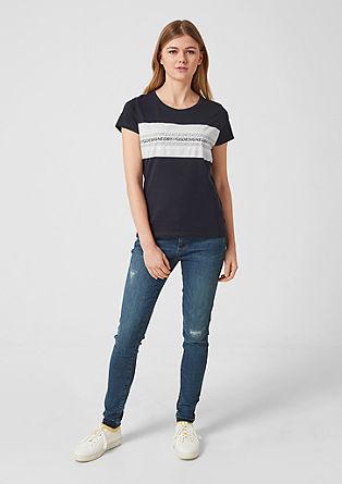 Katoenen shirt met labelprint