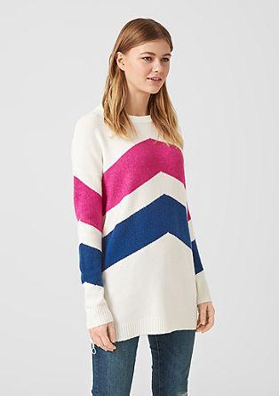Lange trui met strepen