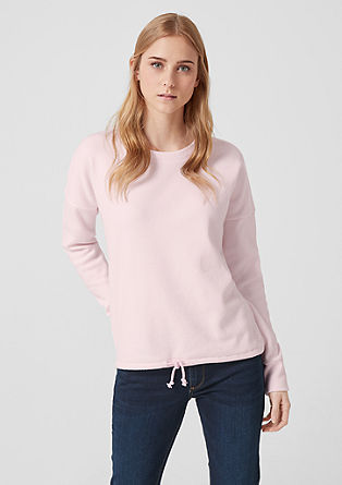 Soft knit jumper with a drawstring from s.Oliver