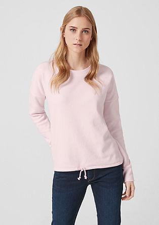 Měkký pletený svetr s tunýlkem na stažení