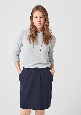 Stretch skirt with piping from s.Oliver