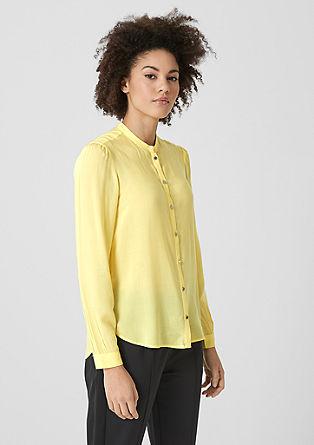 Bluza v slogu tunike s svetlečimi gumbi