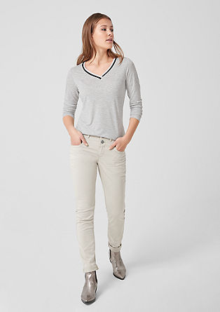 Long sleeve top with a ribbed collar from s.Oliver