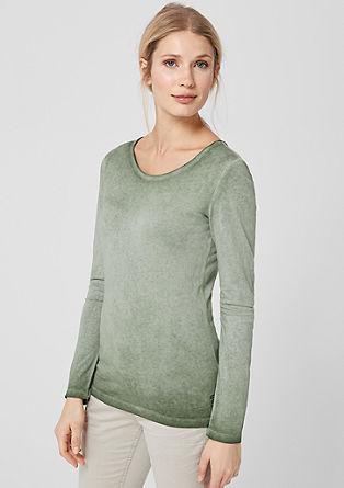 Tričko sdlouhým rukávem, barvené pigmenty za studena