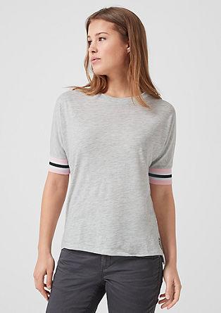 Jerseyshirt mit Rippbündchen