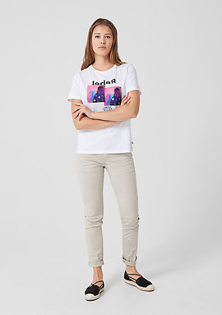 Statement T-shirt with appliqués from s.Oliver