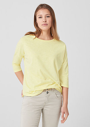 Slub yarn T-shirt with dropped shoulders from s.Oliver