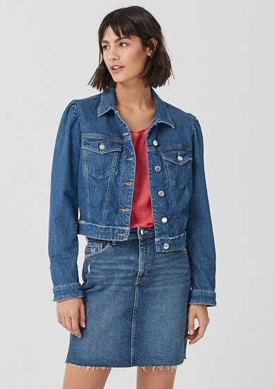 Slightly cropped denim jacket from s.Oliver