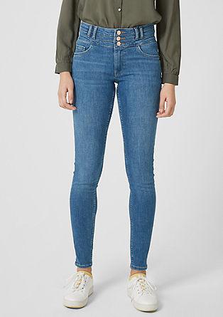 Reena Slim: Jeans hlače z visokim pasom