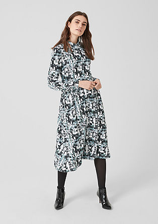 Tea dress with an all-over print from s.Oliver