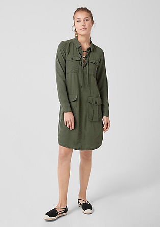 Shirt dress with pockets from s.Oliver