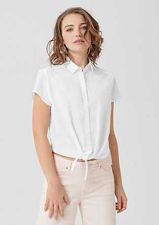 Casual blouse with a knot from s.Oliver