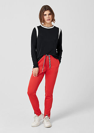 Long sleeve top with contrasting stripes from s.Oliver
