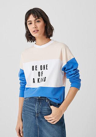 T-shirt à manches longues et motif colour blocking de s.Oliver