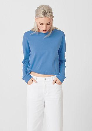 Tričko s dlouhým rukávem a tunýlkem na stažení