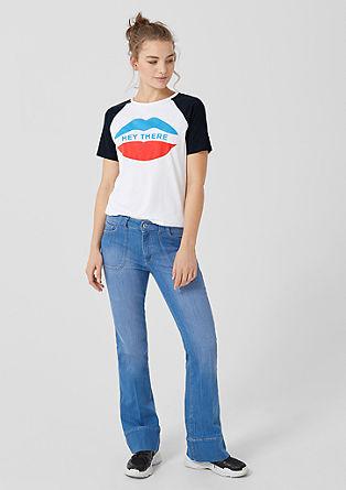T-shirt à manches raglan et imprimé de s.Oliver