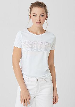 Katoenen shirt met print