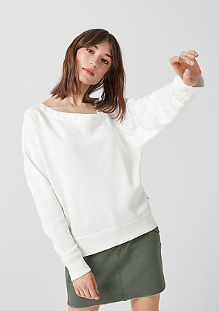 Sweatshirt with a button placket from s.Oliver