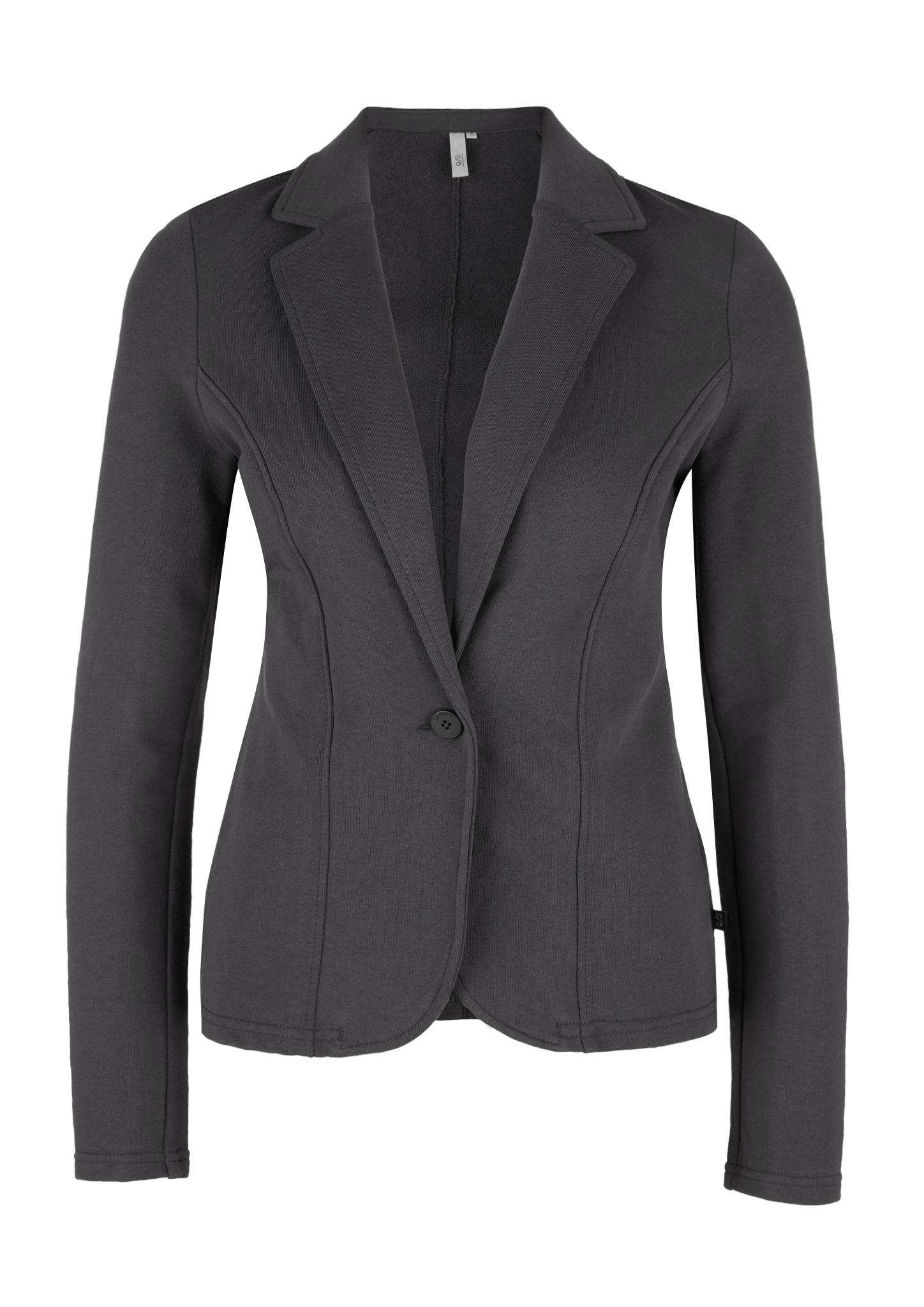 Sweatblazer | Bekleidung > Blazer > Sweatblazer | Grau/schwarz | 100% baumwolle | Q/S designed by