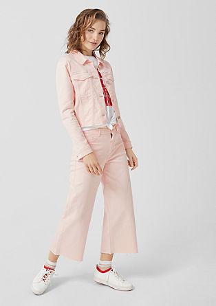 zkrácená džínová bunda